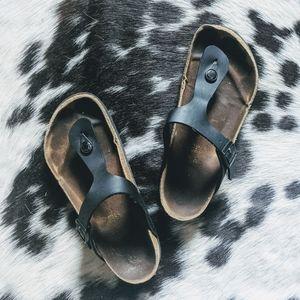 Birkenstock Gizeh Thong Sandals Black 38